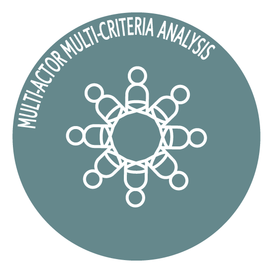 Multi-actor multi criteria analysis icon