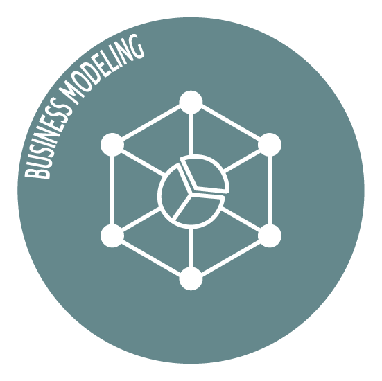 business modeling icon