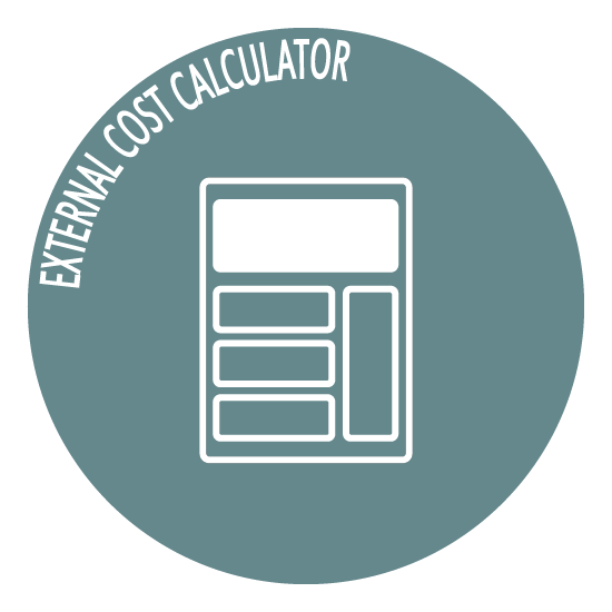 external cost calculator icon