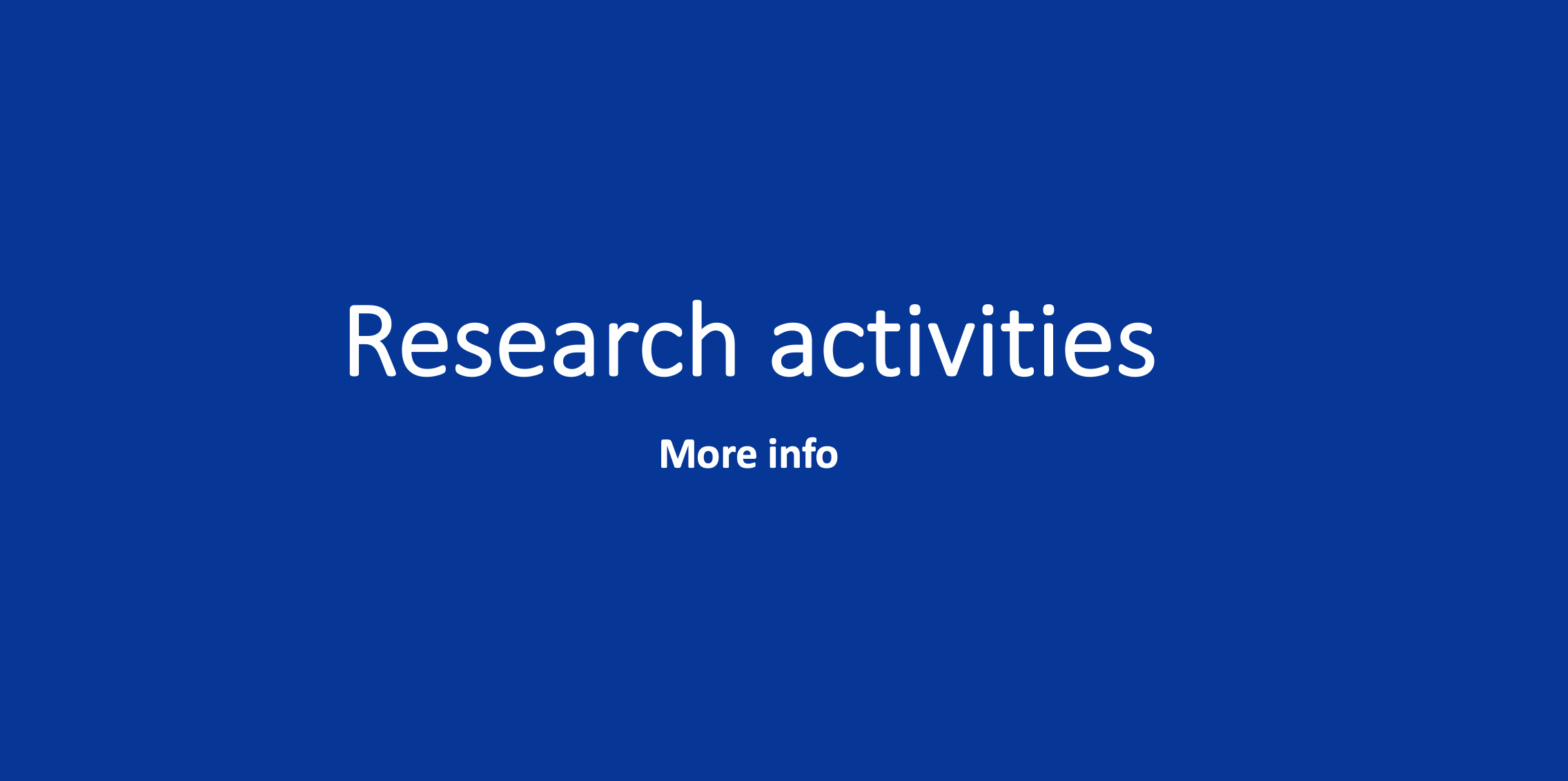 Research activities blue box
