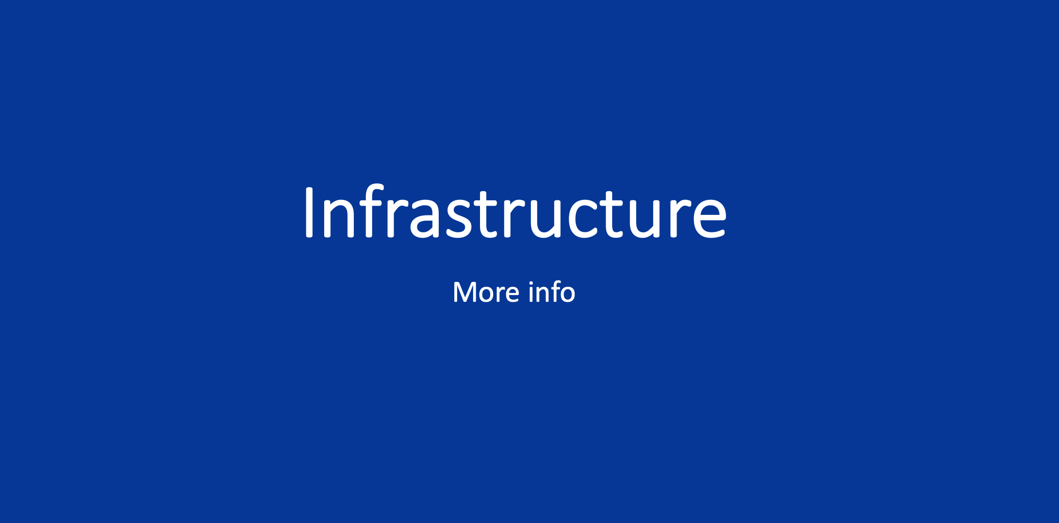 Infrastructure blue box