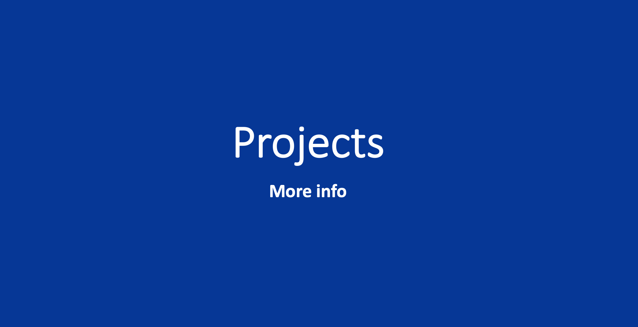 Projects blue box